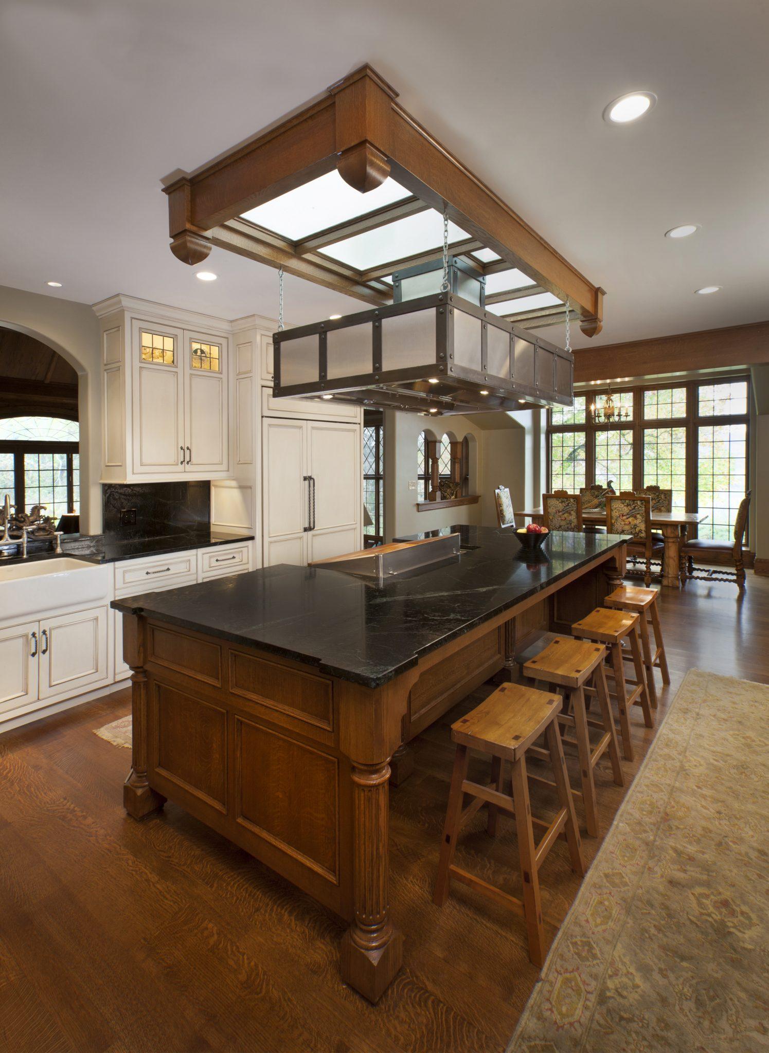Tudor Kitchen Remodel Island RWA Architects - Tudor kitchen remodel